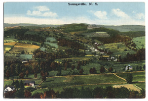 Postcard of Youngsville, NY.
