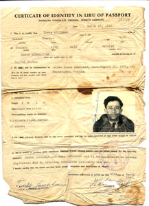 Father's identity card.
